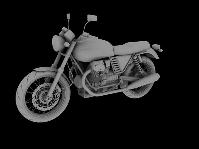 clasurol moto guzzi v7 model 2010 3d 3ds max c4d obj 151927