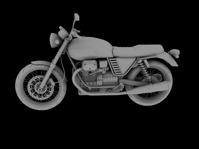 clasurol moto guzzi v7 model 2010 3d 3ds max c4d obj 151928