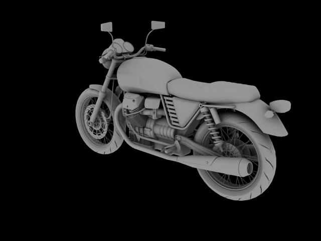 clasurol moto guzzi v7 model 2010 3d 3ds max c4d obj 151929