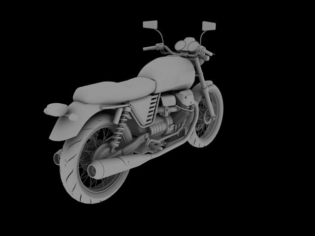 clasurol moto guzzi v7 model 2010 3d 3ds max c4d obj 151930