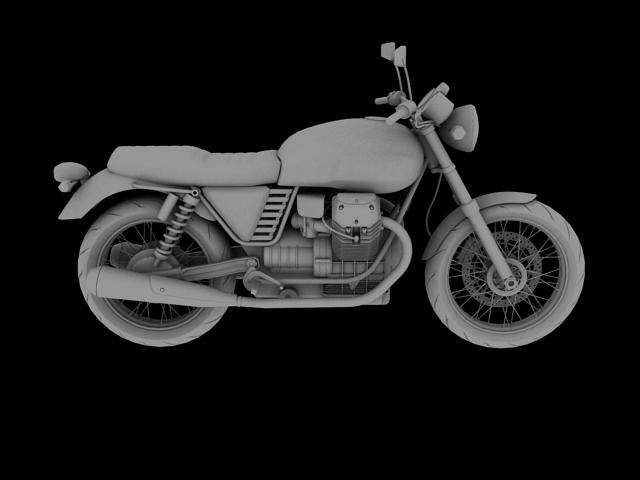 clasurol moto guzzi v7 model 2010 3d 3ds max c4d obj 151931
