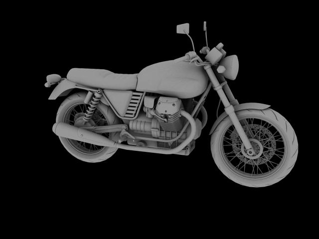 clasurol moto guzzi v7 model 2010 3d 3ds max c4d obj 151932