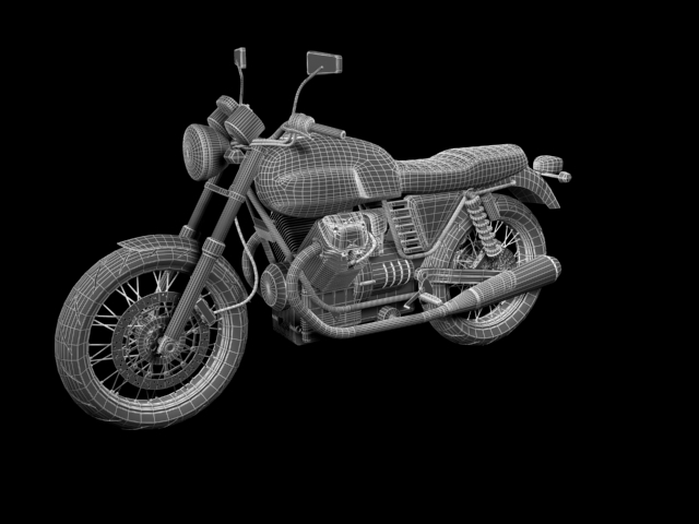 clasurol moto guzzi v7 model 2010 3d 3ds max c4d obj 151933