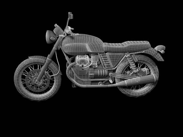 clasurol moto guzzi v7 model 2010 3d 3ds max c4d obj 151934