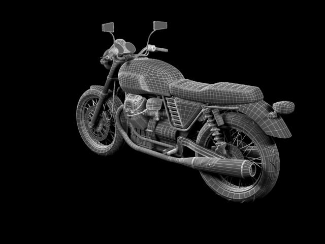 clasurol moto guzzi v7 model 2010 3d 3ds max c4d obj 151935