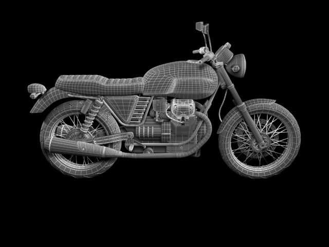 clasurol moto guzzi v7 model 2010 3d 3ds max c4d obj 151937