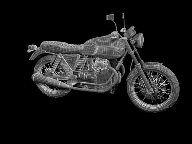 clasurol moto guzzi v7 model 2010 3d 3ds max c4d obj 151938