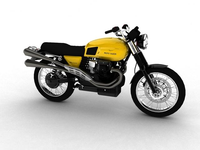 moto guzzi v7 scrambler 2012 3d model 3ds max c4d obj 152057