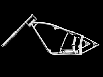motorcycle chopper frame 3d model 3ds dxf 88085