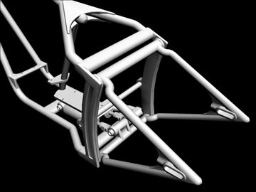 motorcycle chopper frame 3d model 3ds dxf 88089