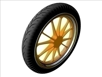 motorcycle front wheel tire 3d model 3ds dxf 99044