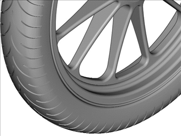 motorcycle front wheel tire 3d model 3ds dxf 99045