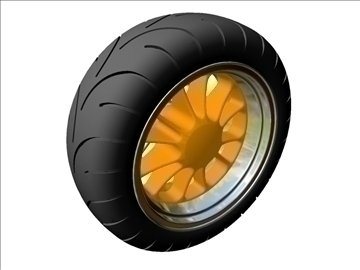 motorcycle rear wheel tire 3d model 3ds dxf 99047