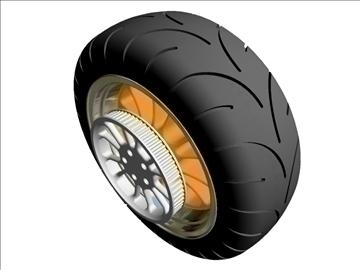 motorcycle rear wheel tire 3d model 3ds dxf 99049