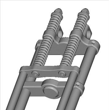 motorcycle springer front fork 3d model 3ds dxf 99115