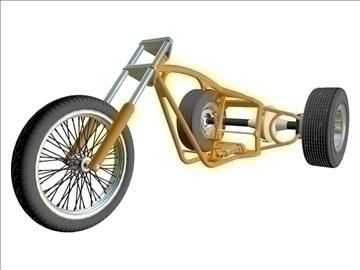 motorcycle trike frame 3d model 3ds dxf 88094