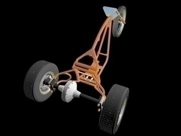 motorcycle trike frame 3d model 3ds dxf 88096