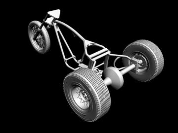 motorcycle trike frame 3d model 3ds dxf 88097