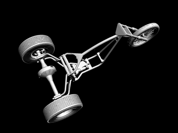 motorcycle trike frame 3d model 3ds dxf 88099