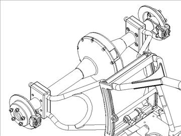 motorcycle trike frame 3d model 3ds dxf 88101