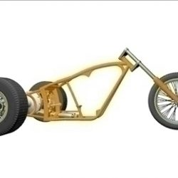 Motorcycle Trike Frame ( 32.86KB jpg by ajwheels )