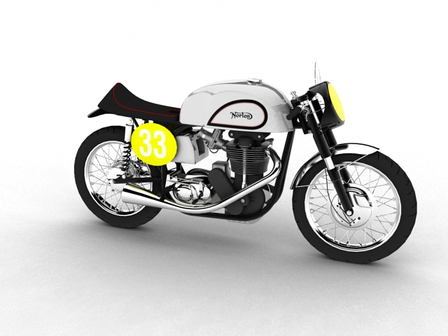 norton manx 1954 3d model 3ds max c4d obj 148233