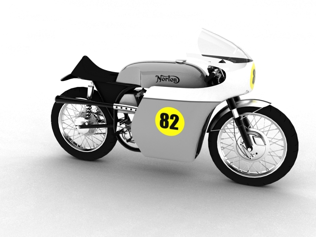 norton racer 1960 3d model 3ds max c4d obj 151994