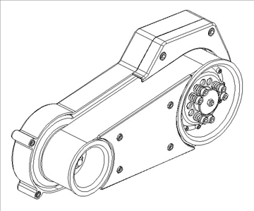 open primary drive for motorcycle engine 3d model 3ds dxf 99091