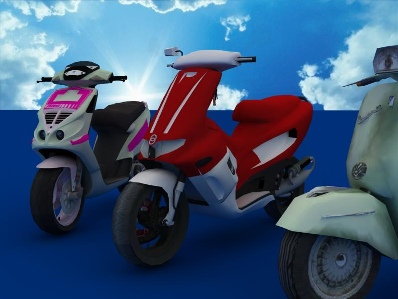 scooters collection 3d model 3ds max dxf dwg fbx obj 121170