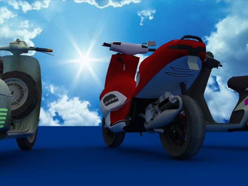 scooters collection 3d model 3ds max dxf dwg fbx obj 121173