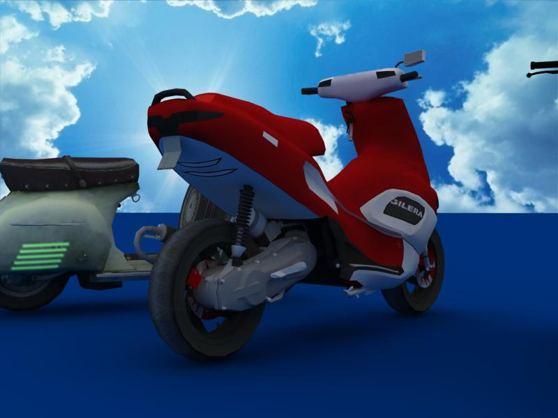 scooters collection 3d model 3ds max dxf dwg fbx obj 121174