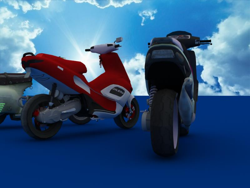 scooters collection 3d model 3ds max dxf dwg fbx obj 121175