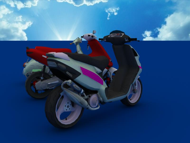 scooters collection 3d model 3ds max dxf dwg fbx obj 121176