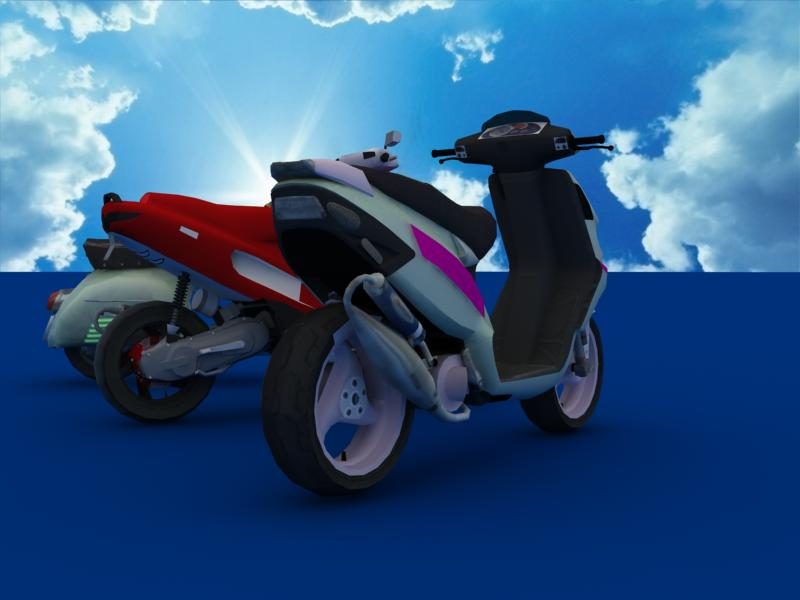 scooters collection 3d model 3ds max dxf dwg fbx obj 121177