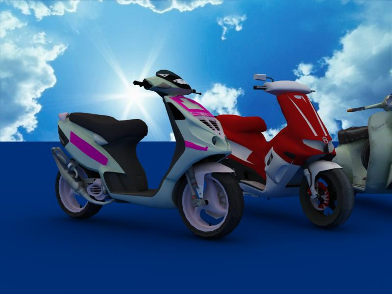 scooters collection 3d model 3ds max dxf dwg fbx obj 121180