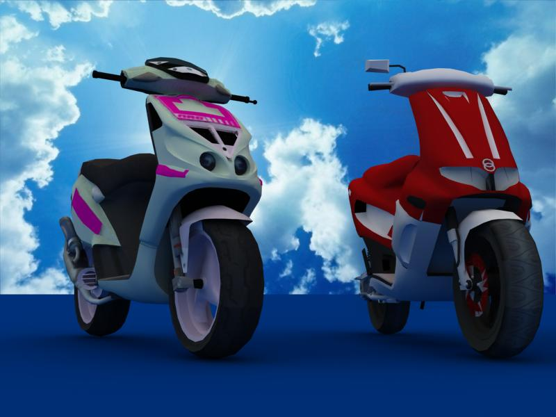 scooters collection 3d model 3ds max dxf dwg fbx obj 121182