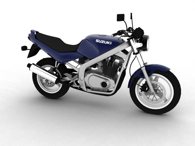 suzuki gs500 1994 3d model 3ds max c4d obj 148249