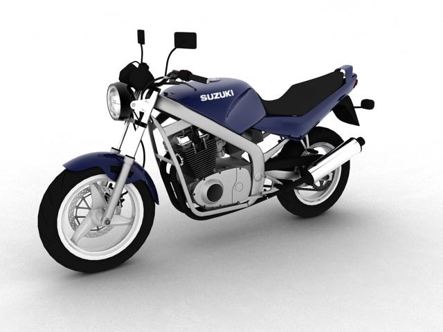 suzuki gs500 1994 3d model 3ds max c4d obj 148250