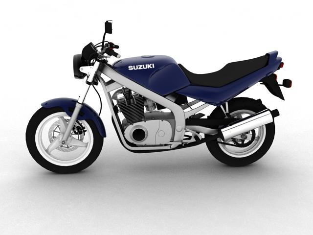 suzuki gs500 1994 3d model 3ds max c4d obj 148251