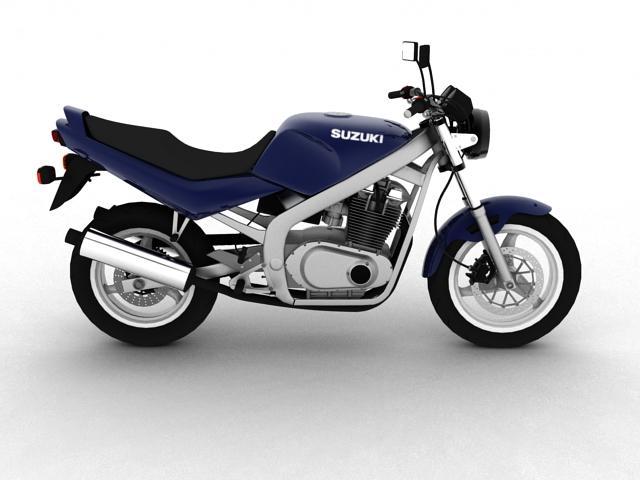 suzuki gs500 1994 3d model 3ds max c4d obj 148255