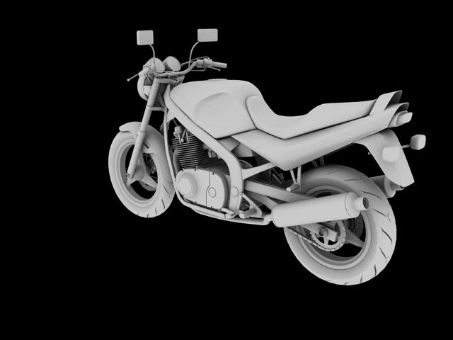 suzuki gs500 1994 3d model 3ds max c4d obj 148256