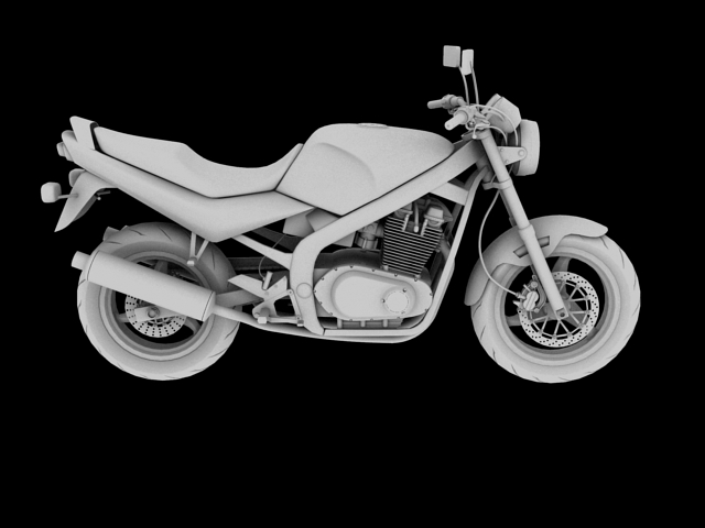 suzuki gs500 1994 3d model 3ds max c4d obj 148259