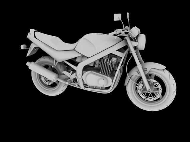 suzuki gs500 1994 3d model 3ds max c4d obj 148260