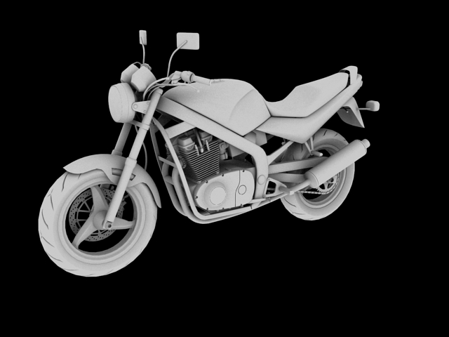 suzuki gs500 1994 3d model 3ds max c4d obj 148261