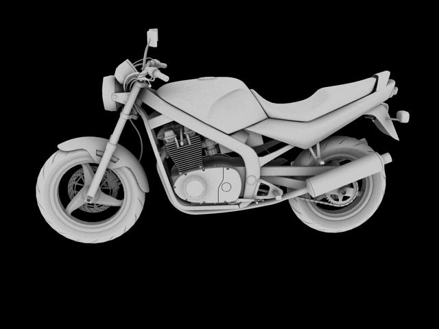 suzuki gs500 1994 3d model 3ds max c4d obj 148262