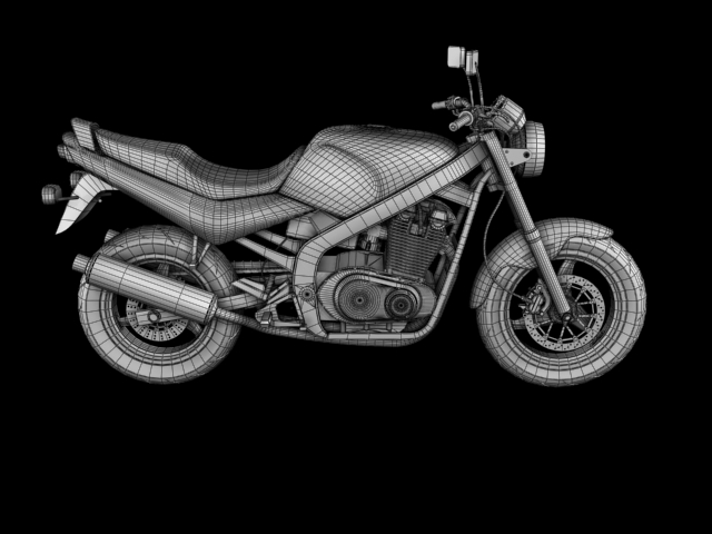 suzuki gs500 1994 3d model 3ds max c4d obj 148264