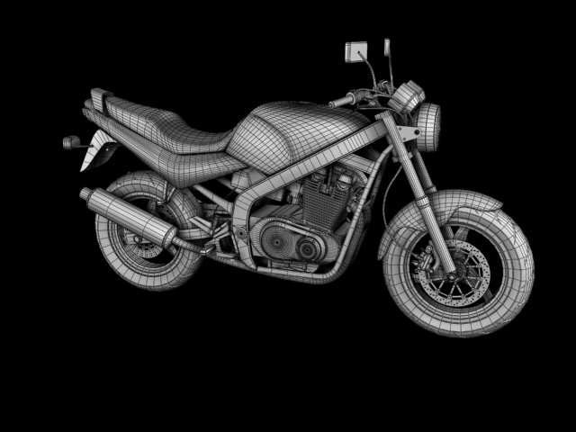 suzuki gs500 1994 3d model 3ds max c4d obj 148265