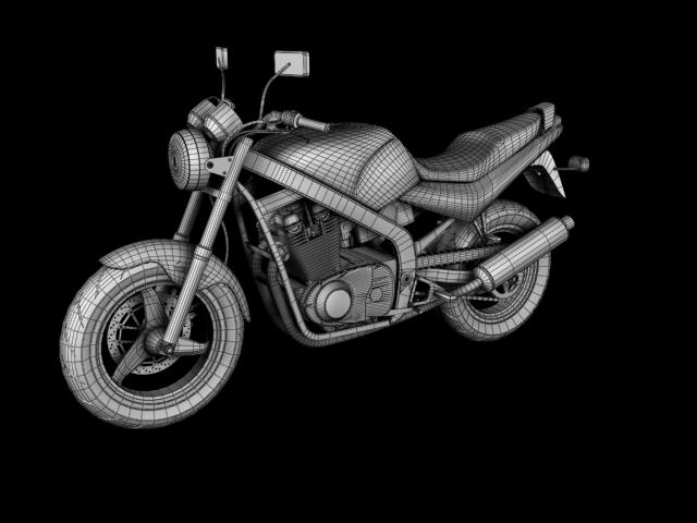 suzuki gs500 1994 3d model 3ds max c4d obj 148266
