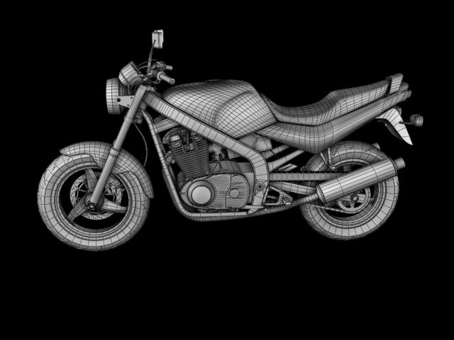 suzuki gs500 1994 3d model 3ds max c4d obj 148267