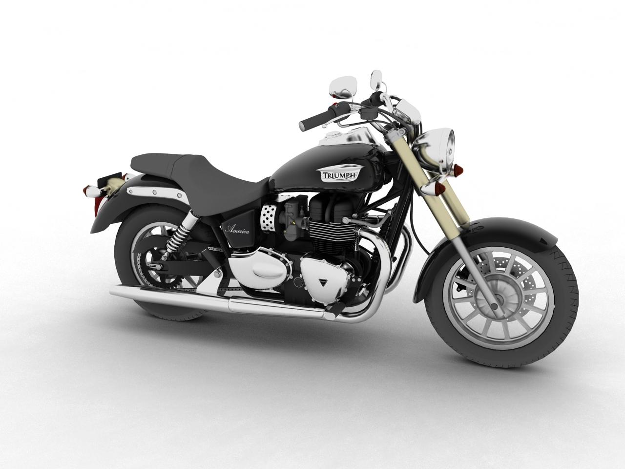 triumph america 2012 3d model 3ds max fbx c4d obj 154902